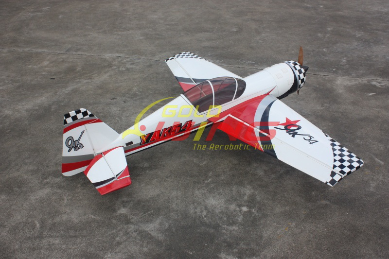 Goldwing Yak 54 30cc 73 Rc Airplane White General Hobby