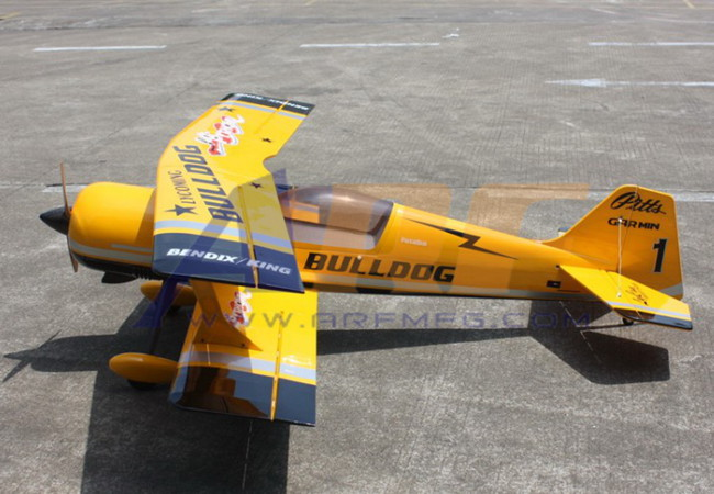 Goldwing Arf Pitts Python 50cc 71 1800mm Rc Plane Yellow