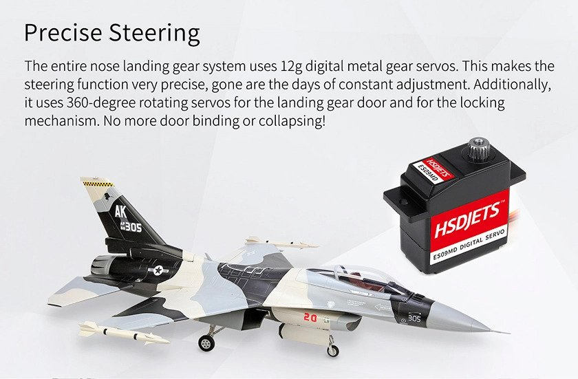 Hsd 105mm Edf F 16 Pnp Rc Jet Plane With Gyro Camo
