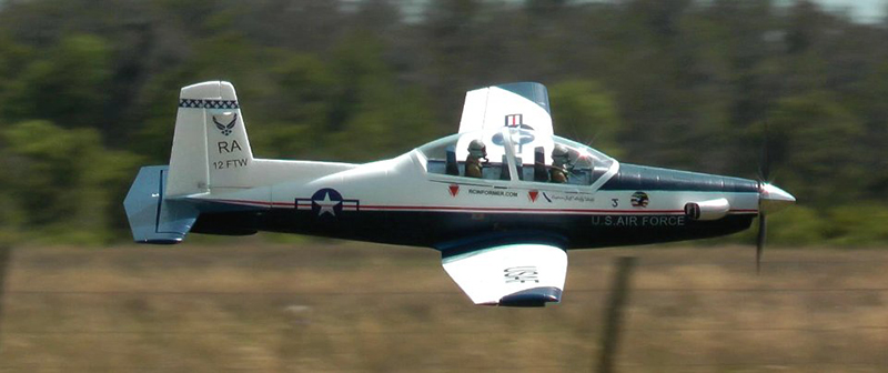 Unique Models T 6 Texan Ii 1200mm Electric Rc Plane Pnp