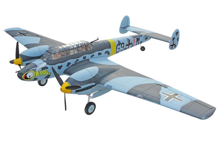 Dynam Messerschmitt BF-110 59''/1500mm EPO Electric RC Plane PNP