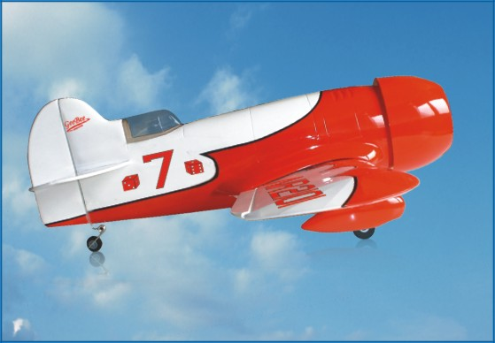 Gee Bee 25 40'' Nitro/Electric RC Plane, Missing Cowling