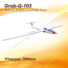 Flyfly Grob-G-103 PT-PJG 3m Electric Glider With Brake
