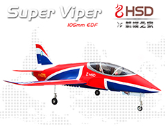 HSD Super Viper 105mm Bypass EDF 1500mm Wingspan RC Jet Kit V2 (no Retracts)