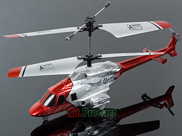 Airwolf 3CH RC Helicopter with LED Light - General Hobby