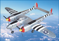 P-38 51.5'' Electric RC Plane, New, Missing Cowl