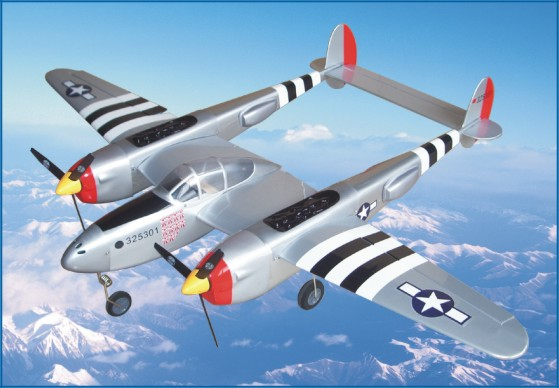 Richmodel P-38 Lightning Electric 51.5'' RC Airplane ARF