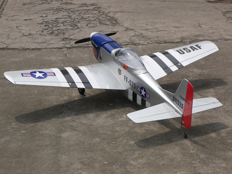 P-51 Mustnag 120 Stinky 68'' RC Airplane, Less Cowl