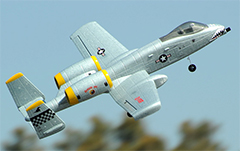 Dynam A-10 Thunderbolt II Twin 64mm EDF RC Jet with Retracts 1080mm Wingspan PNP Grey