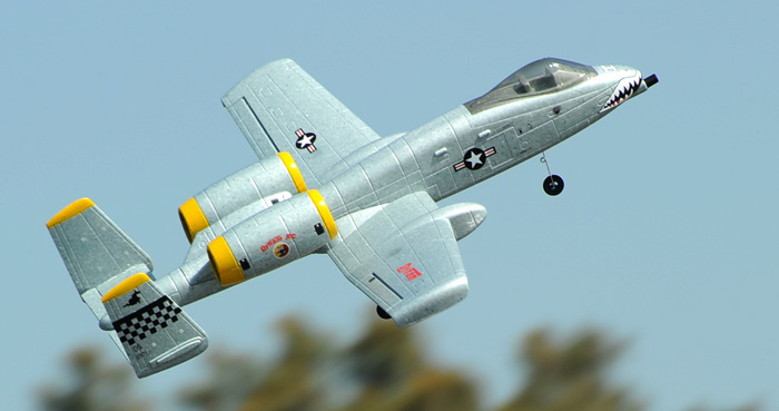 Dynam A-10 Thunderbolt II V2 Twin 64mm EDF RC Jet with Retracts 1080mm Wingspan PNP Grey