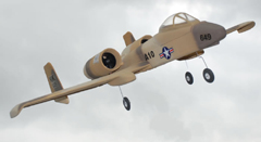 A-10 Thunderbolt II 4-Channel Ready-To-Fly Electric Ducted Fan RC Fighter Jet Airplane Dessert Sandy Version