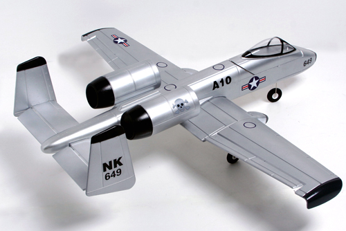 A-10 Thunderbolt II 4-Channel Ready-To-Fly Electric Ducted Fan RC Fighter Jet Airplane Silver Version