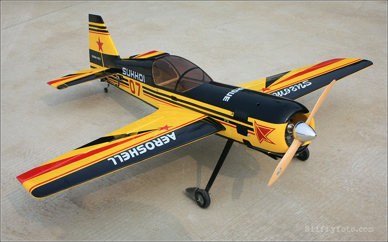 Skyline Sukhoi Su-26 70 60'' Aerobatic RC Airplane ARF B Yellow