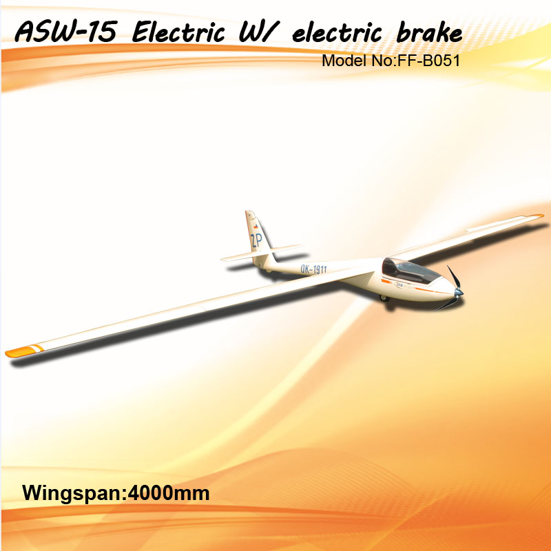 Flyfly ASW-15 4m/157'' Electric RC Gilder with Brake FF-B051