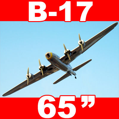 "B-17 Flying Fortress Bomber 65"" Electric RC Airplane ARF"