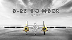 B-25 Mitchell Bomber EPO 1250mm RC Plane PNP Version Silver