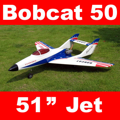 Bobcat 50 Pusher Prop Jet 51'' RC Airplane ARF White