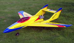 Bobcat 50 Pusher Prop Jet 51'' RC Airplane ARF Yellow