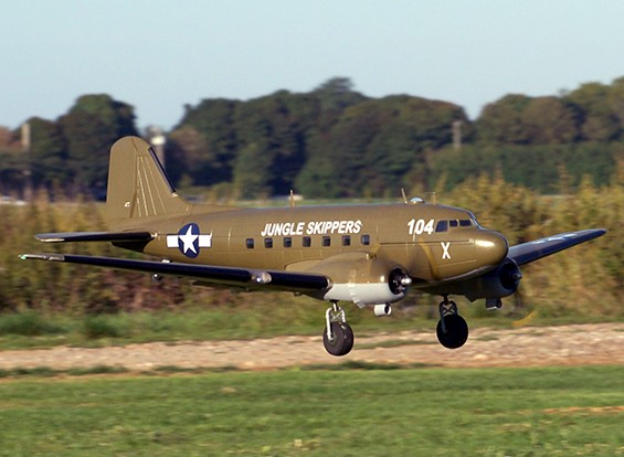 C 47 Skytrain Military Transport Epo 1600mm 63 Rc Plane