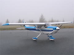 Cessna 182 63'' Balsa/Fiber Glass RC Airplane, Returned Item