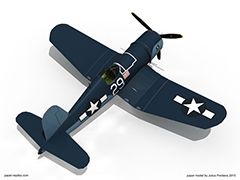 F4U 600mm Electric RC Plane Kit