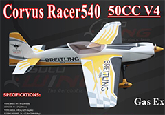 Goldwing Corvus Racer 50CC V4 89.25'' Aerobatic RC Plane A