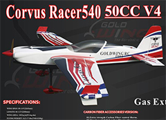Goldwing Corvus Racer 50CC V4 89.25'' Aerobatic RC Plane C
