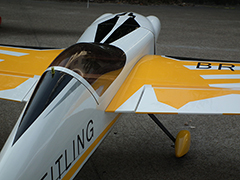 Skyline Corvus 540 70E 59'' 1500mm Aerobatic RC Plane A Yellow