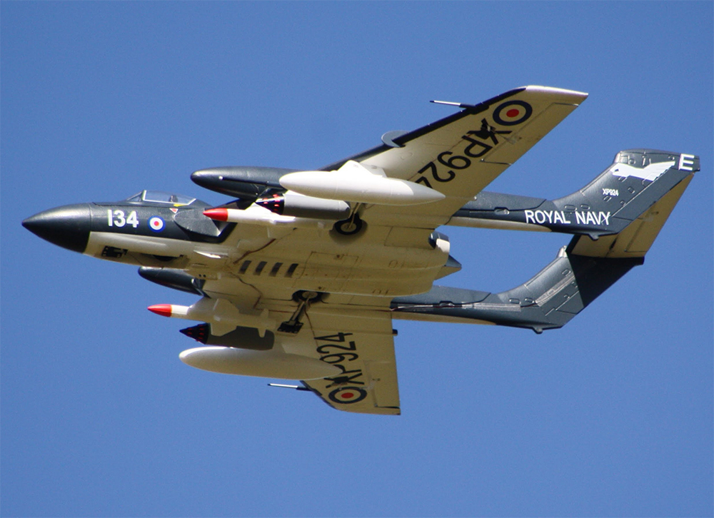 HSD D.H.110 Sea Vixen EDF RC Jet w/Retracts 1000mm DH-110 Kit with Retracts