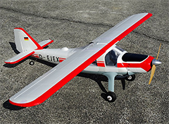 "Taft Hobby Dornier Do 27 1600mm / 63""  Electric RC Plane PNP Version Red"