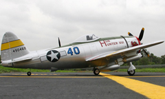 Dynam P-47D Thunderbolt Hun Hunter 48'' EPO Electric RC Airplane With Retracts Ready-To-Fly