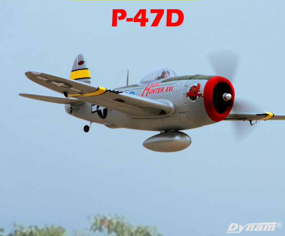 Dynam P-47D Thunderbolt Hun Hunter 48'' EPO Electric RC Airplane PNP With Retracts