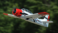 "Dynam T-28 Trojan V2 1270mm (50"") PNP RC Plane Red"