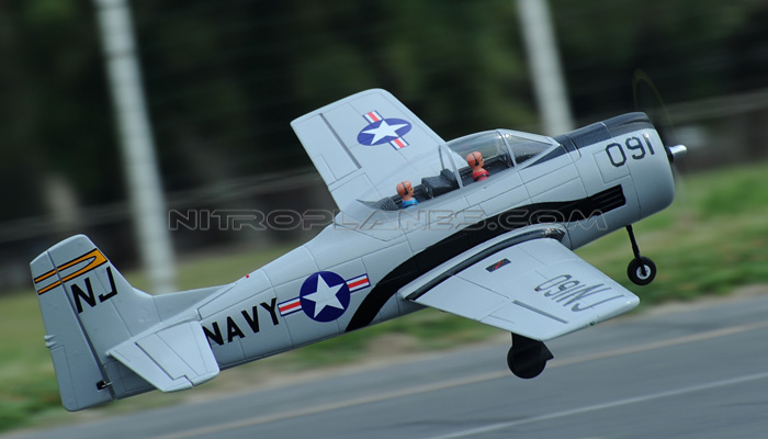 Dynam T-28 Trojan 1270mm EPO RC Plane With Retracts PNP Grey