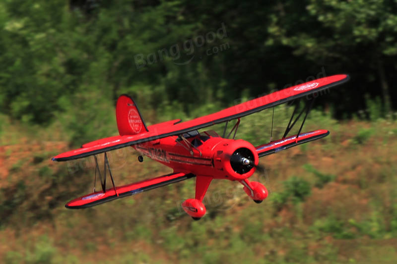 Dynam Waco Red 1270mm 50inch Wingspan RC Airplane PNP