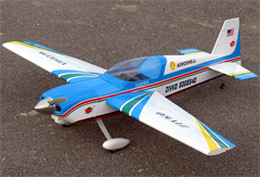 Edge 540 25 45'' Electric RC Airplane ARF Blue, Missing Canopy.