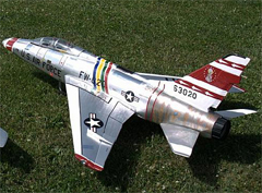 Flyfly F-100 Super Sabre 90mm EDF RC Jet Kit Version