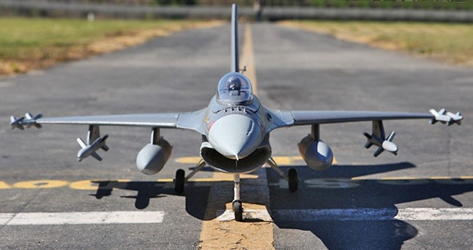F-16 Fighting Falcon 64mm EDF Electric RC Jet Fighter Airplane Ready-To-Fly