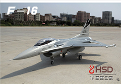 HSD F-16 F16 Grey 105mm EDF PNP V2 With Motor/ESC/Servos/Metal Retracts