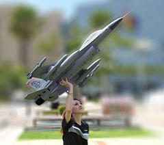 LX F-16 Fighting Falcon 360 Degree Vector 70mm EDF Super Scale RC Jet Kit Version With Retracts