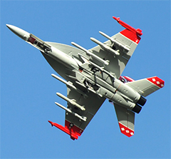 F-18E/F 70mm Hornet EDF RC Jet Red Viper Reday-To-Fly