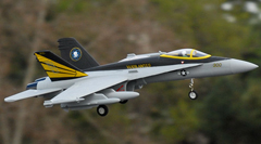 FMS F-18 V2 64mm EDF Electric RC Jet Ready-To-Fly Grey