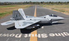 LX F-22 Twin 70mm EDF RC Jet With Retracts Kit Version