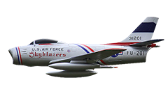 Freewing F-86 Sabre 64mm EDF Electric RC Jet Skyblazers PNP