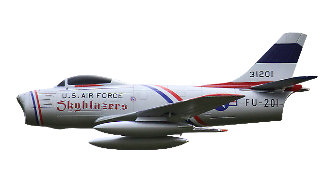 Freewing F-86 Sabre 64mm EDF Electric RC Jet Skyblazers Ready-To-Fly