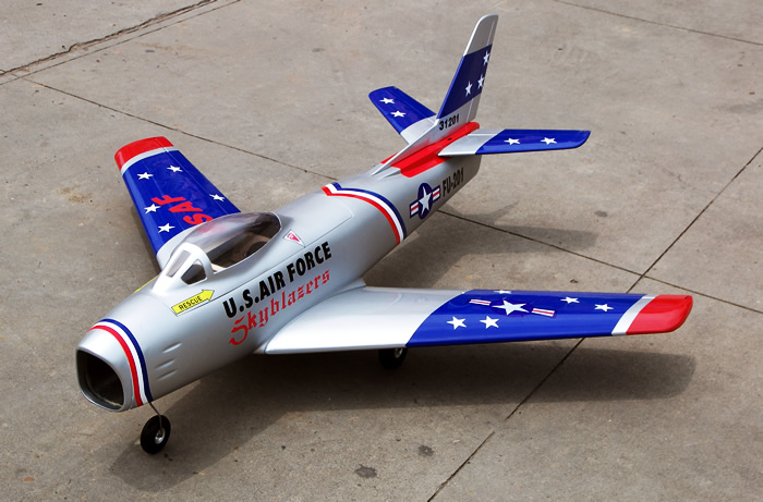 F-86 Sabre 100 EDF Fiberglass 49.4'' RC Airplane ARF, Returned Item