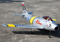 Flyfly F-86 Sabre 90mm EDF RC Jet Kit Version