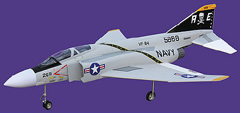 Flyfly F4 Phantom 90mm EDF RC Jet Kit Version