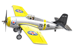 LX F4F Wildcat 47''/1200mm EPO Electric RC Airplane Yellow Ready-To-Fly