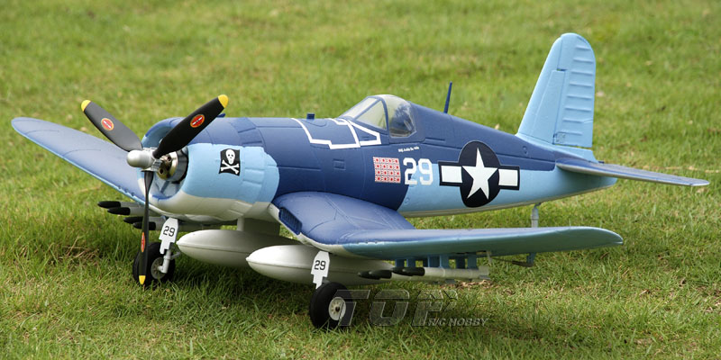 TopRC F4U Corsair Blue 750mm/30.00in EPO Electric RC Airplane Ready-To-Fly